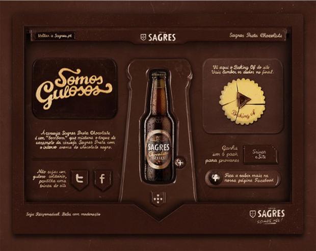 Сайт из шоколада