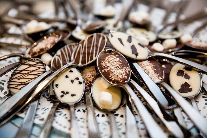 Ложки в шоколаде