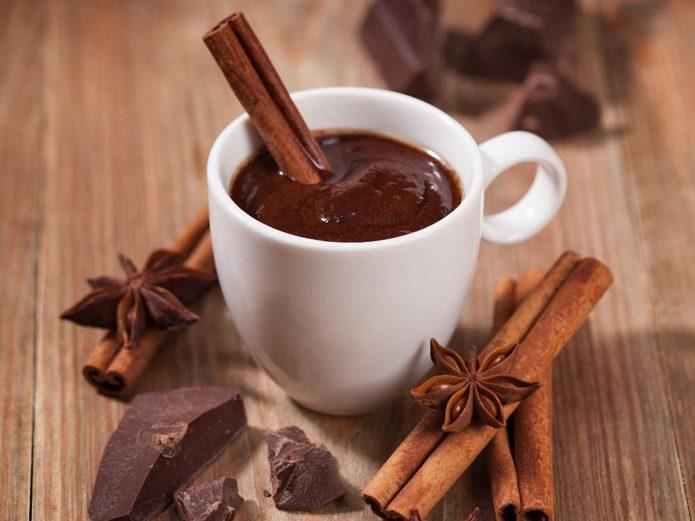 Корица и горячий шоколад