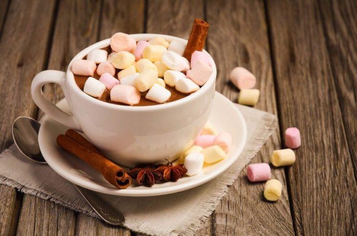Горячий шоколад с мармеладом