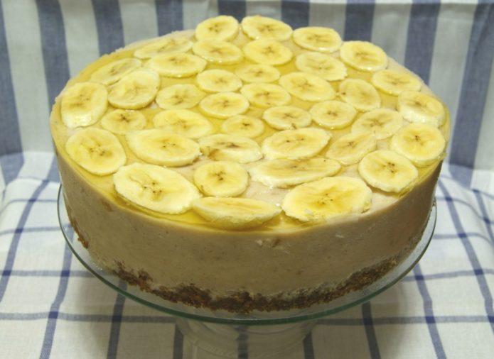 творожный торт с бананом