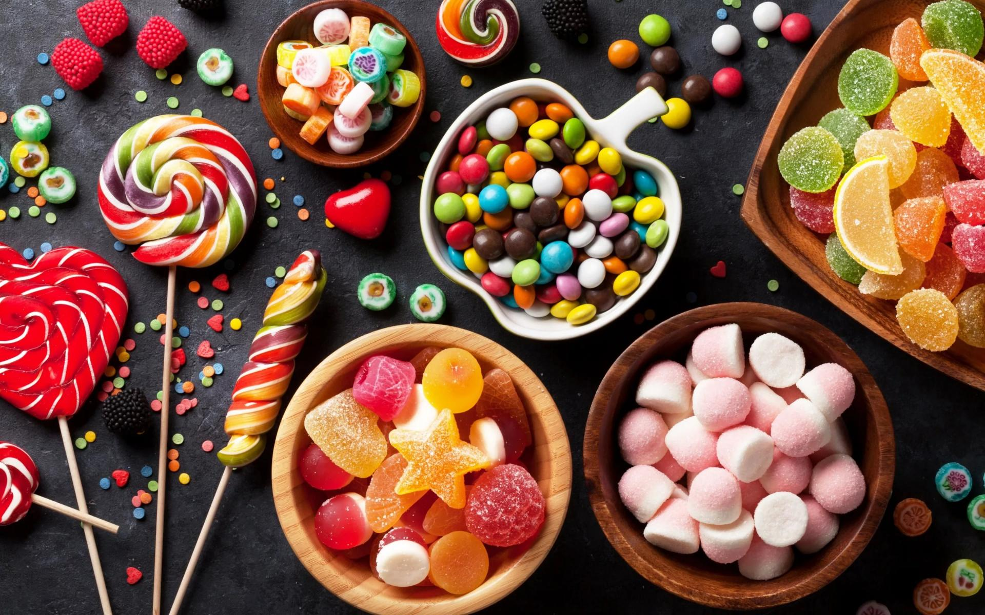 Картинки много сладостей