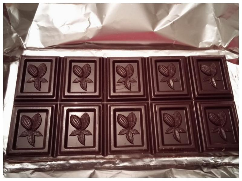 шоколад с узором
