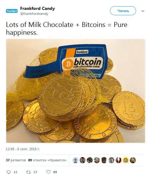 Шоколадный биткоин