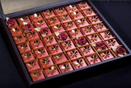 Swarovski-studded chocolates