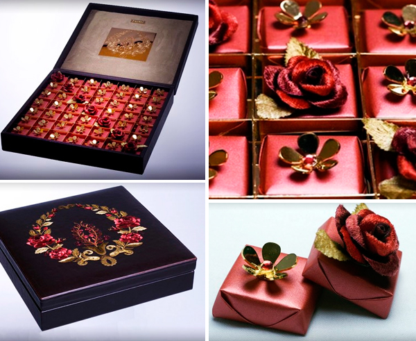 Swarovski-studded chocolates