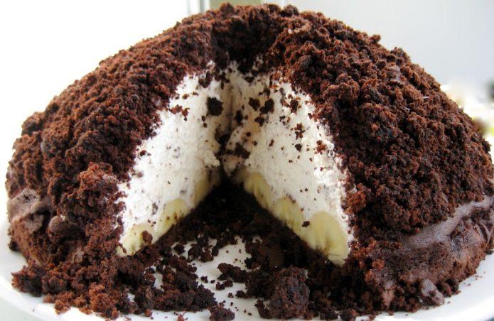 Торт «Норка крота» без выпечки