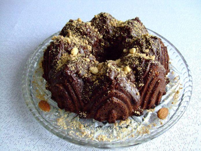шоколадный кекс из микроволновки