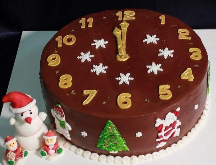 28 идей украшения торта на Новый год