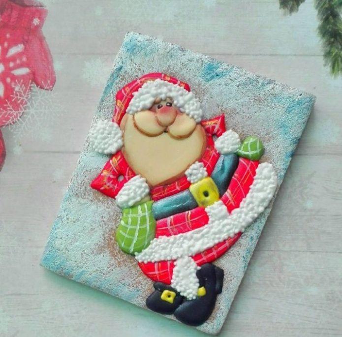 Дед Мороз из мастики