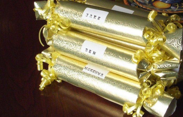 Красивая упаковка сладкого подарка