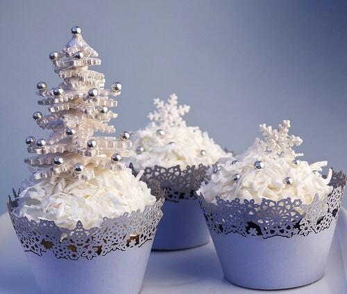 Новогодние кексы в зимней тематике
