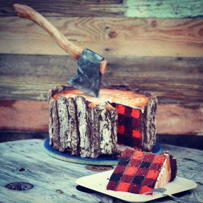 Необычный торт в разрезе