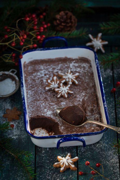 Рождественский пудинг в шоколаде