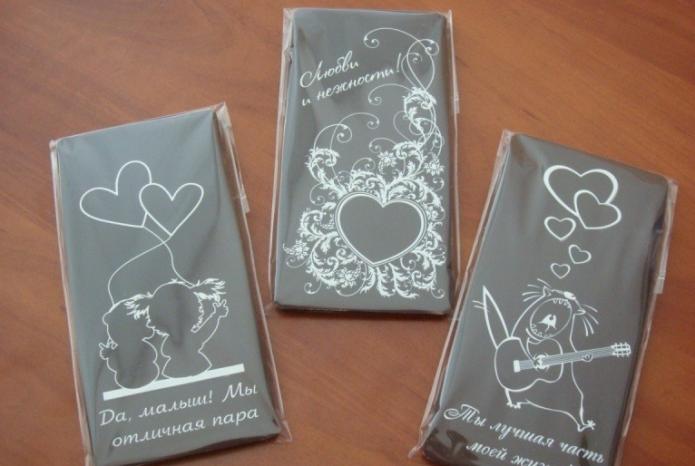 Открытка из шоколада
