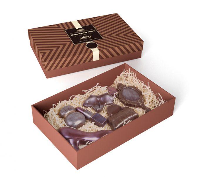 Фигурный шоколад в коробках