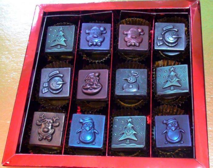 Фигурные шоколадные наборы