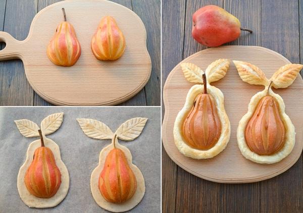 Десерт из груш в тесте