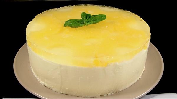 Торт с ананасовым желе