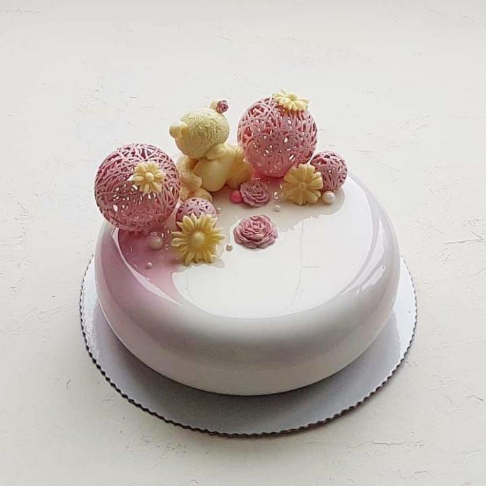 Зеркальная глазурь на торте