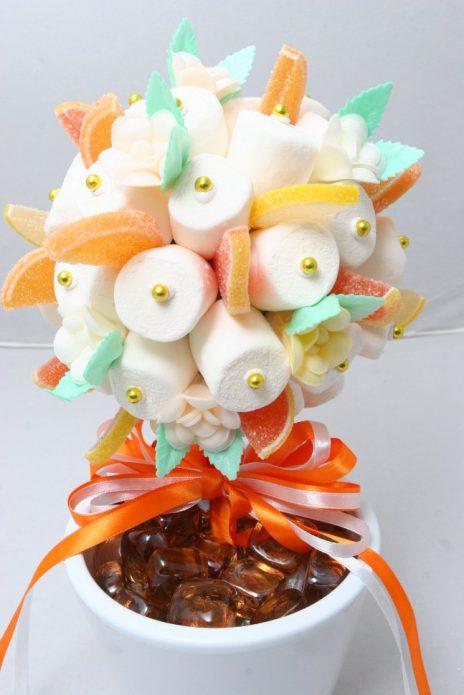 Цветы из маршмеллоу