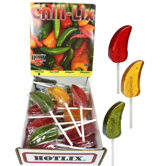 Chili Lix Pepper Shaped Lollipops