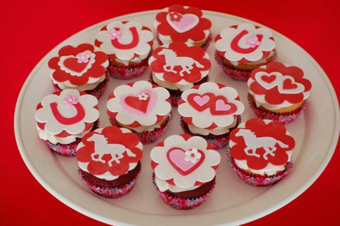 Кексы на День святого Валентина
