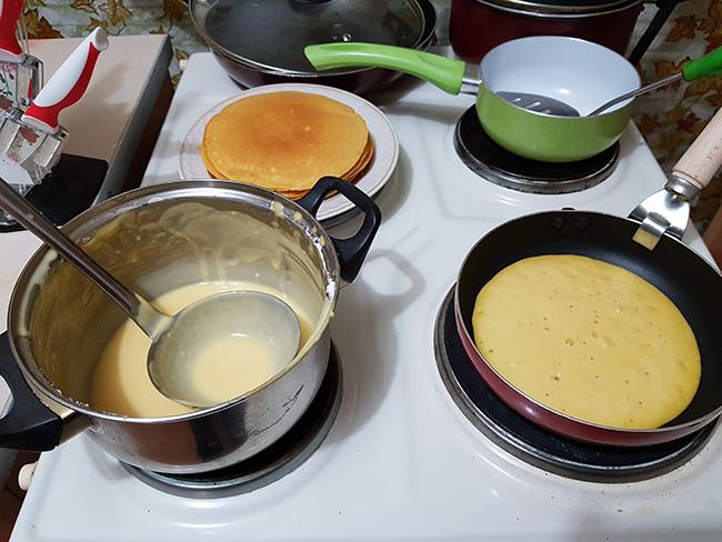Приготовление панкейков