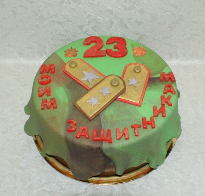 Торт для защитников