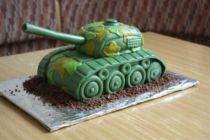 Сладкий танк на шоколадной стружке