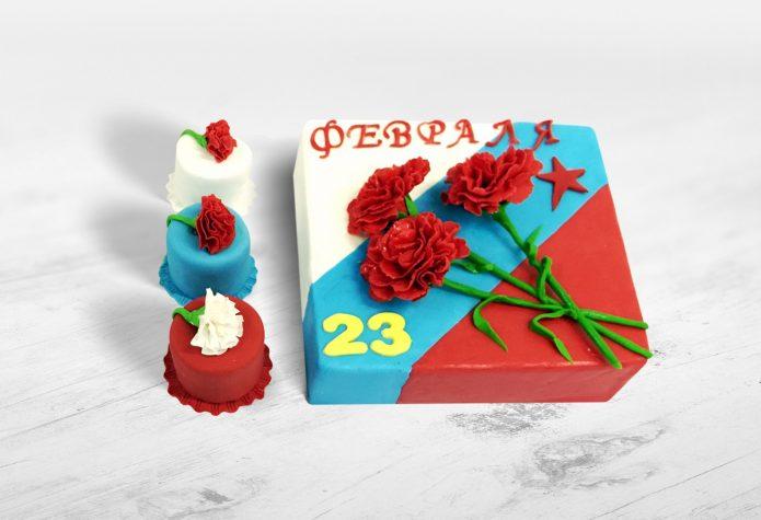 Торт в расцветке флага России