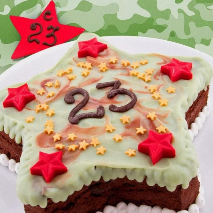 Торт в виде звезды
