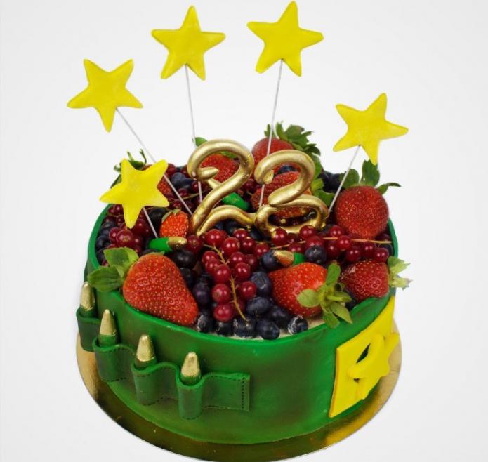Военный торт с фруктами