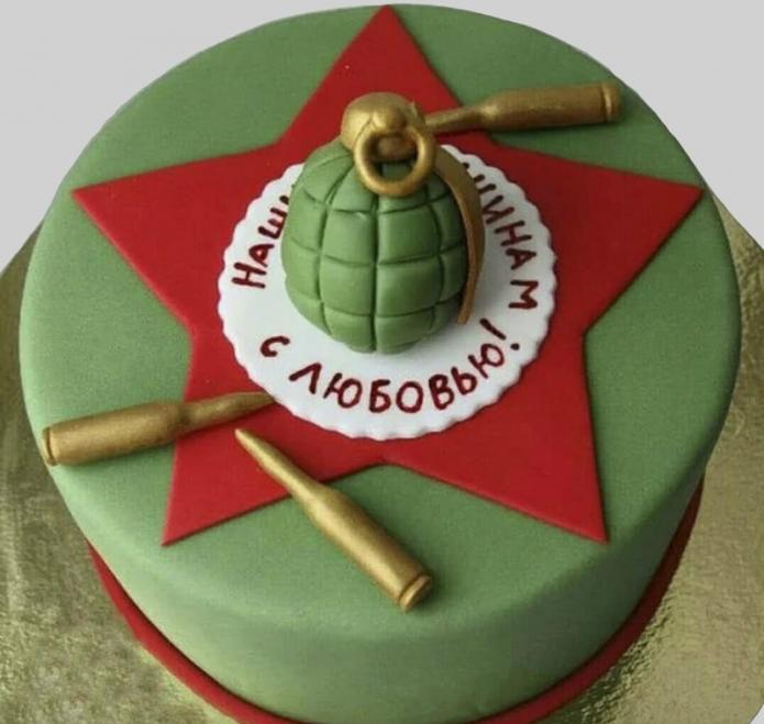 Торт с гранатой