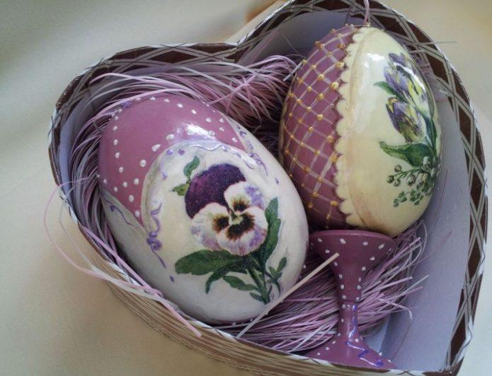 Декупаж яиц с росписью