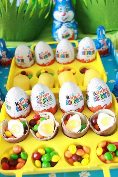 Шоколадные яйца с драже