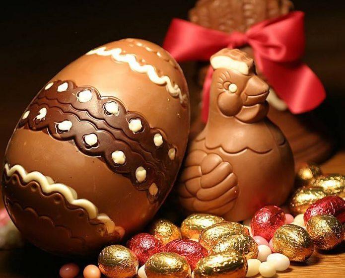 Шоколадные яйца своими руками