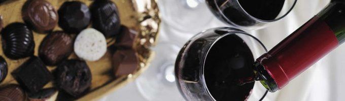 шоколад с вином