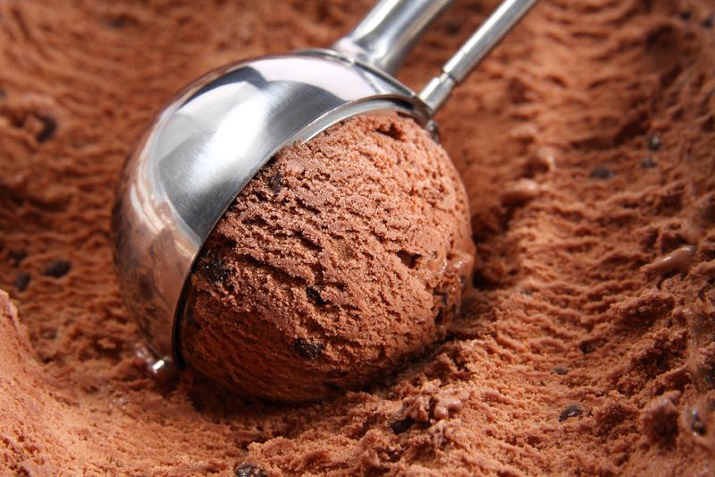 мороженое и шоколад