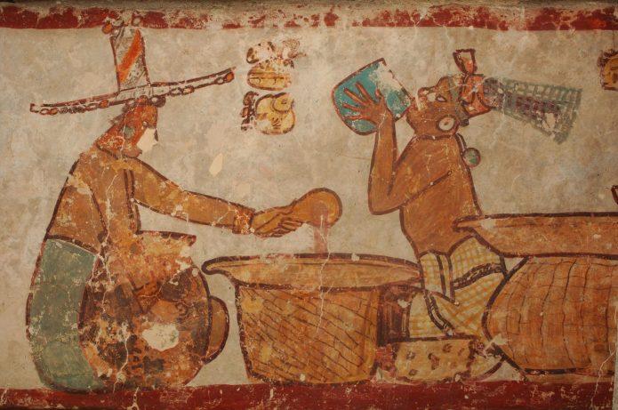 Индейцы майа и напиток из какао-бобов