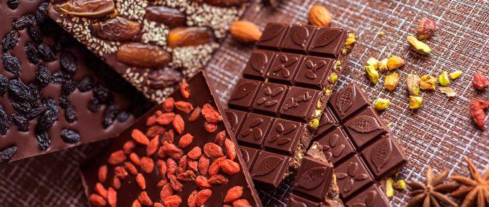 плитки ремесленного шоколада