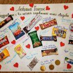 Плакат со сладостями на годовщину