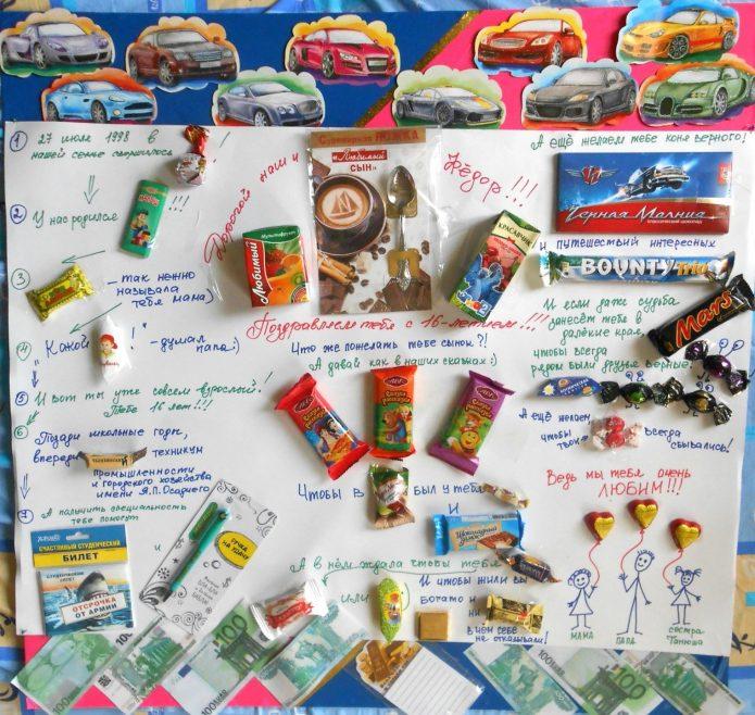 Уборкой, идеи сладкой открытки