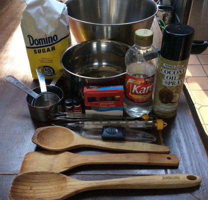 инструменты для приготовления сладкой ваты