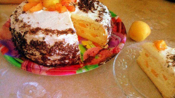 Торт Абрикосовая свежесть