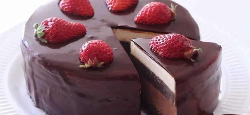 Шоколадный муссовый торт