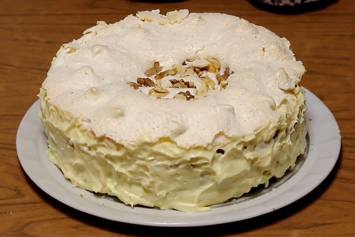 Торт «Королевский» с безе