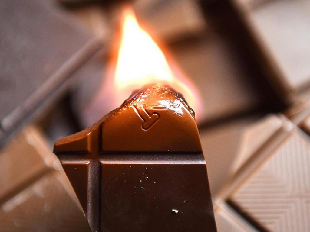 Научное объяснение горения шоколадок